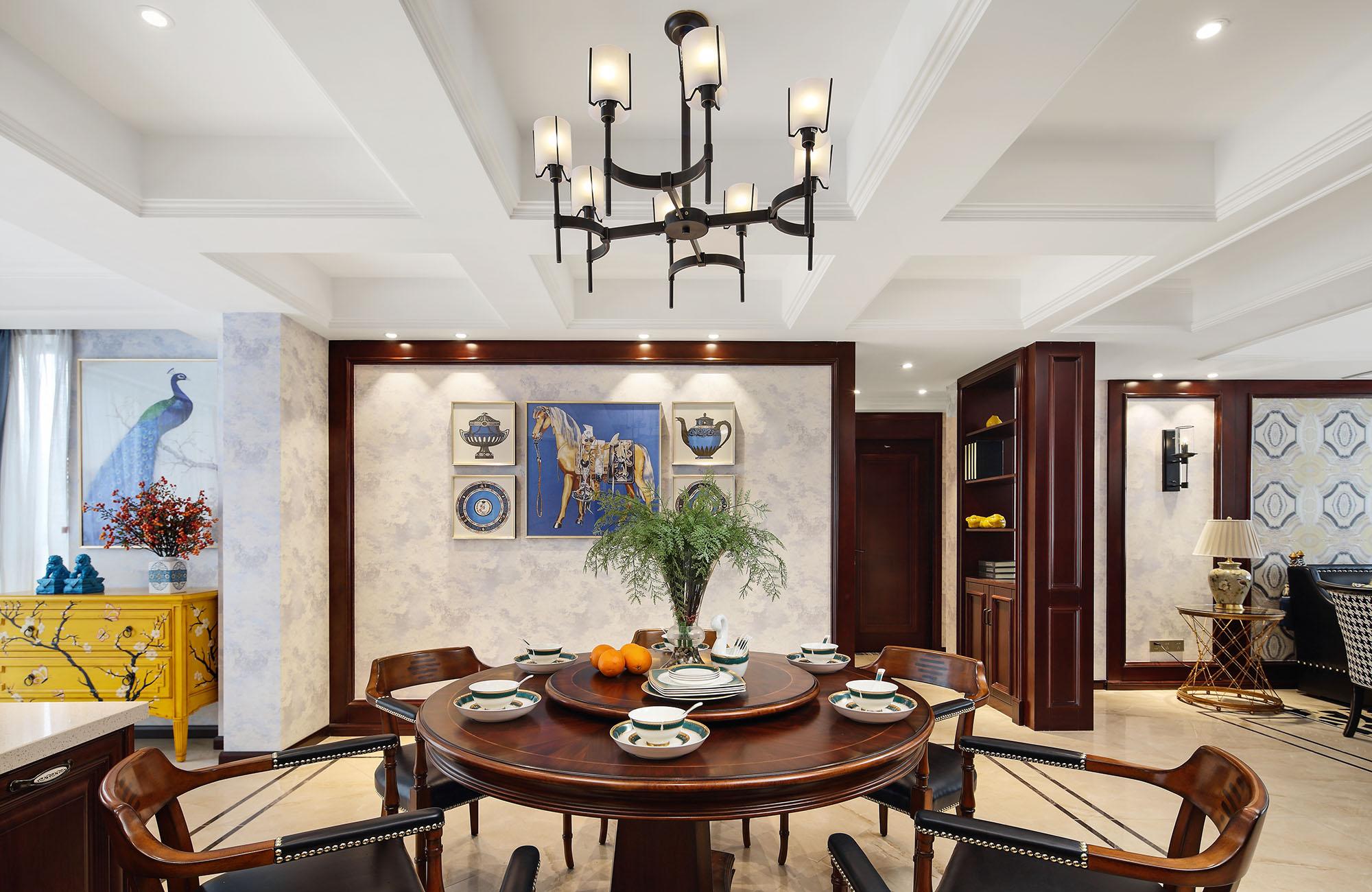 南通海安书香园—143平—美式风格实景案例