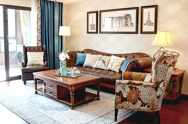 美式风格 万科城市之光 两室一厅 141平米