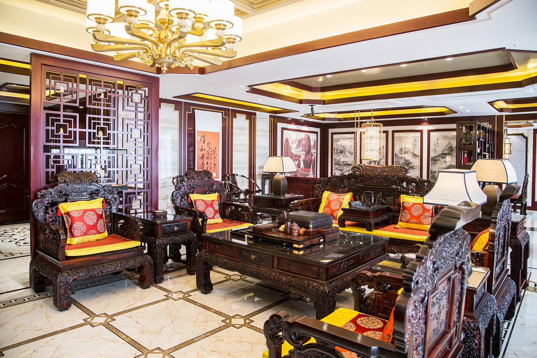 玖龍城260平—古典中式 实景装修案例 装修风格图