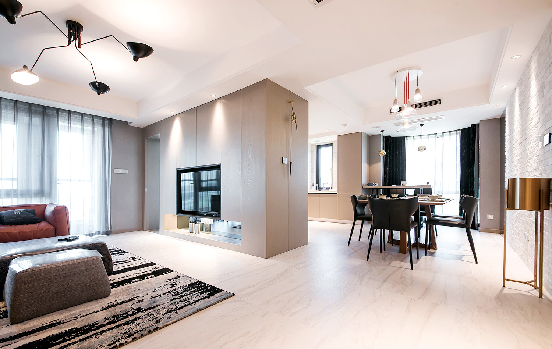 绿城玉兰公寓—160平 —现代简约风格实景图
