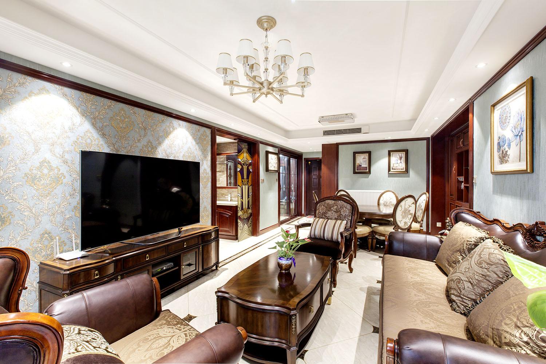 保利香槟国际 120平米 三室两厅装修实景案例效果图
