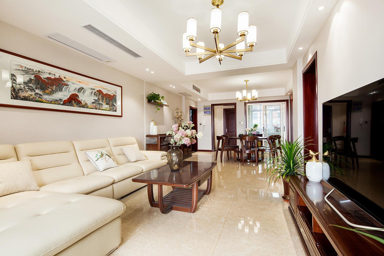 隆兴福里—120平米房子装修实景效果图 新中式