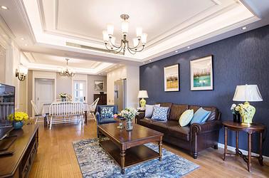 美式风格 花半里 三室两厅 120平米