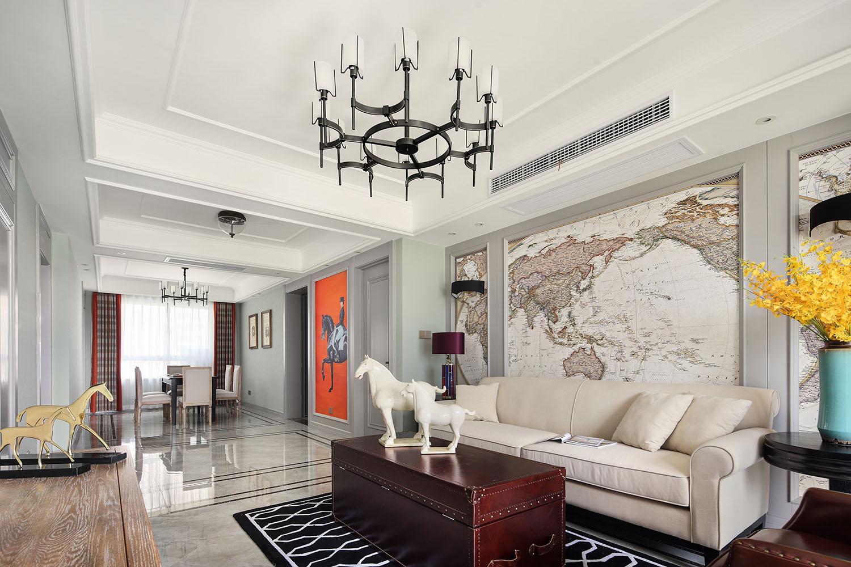 海安 盛世名门—140平—简约美式风格实景案例