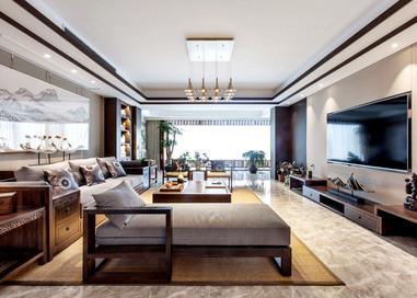 南山湖一号— 340平—新中式风格实景案例