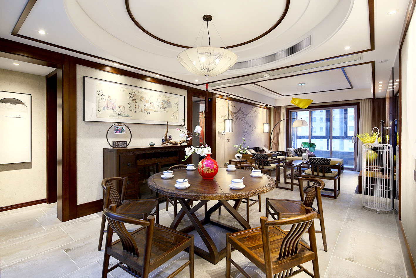 东港国际(海安)140平新中式风格实景图