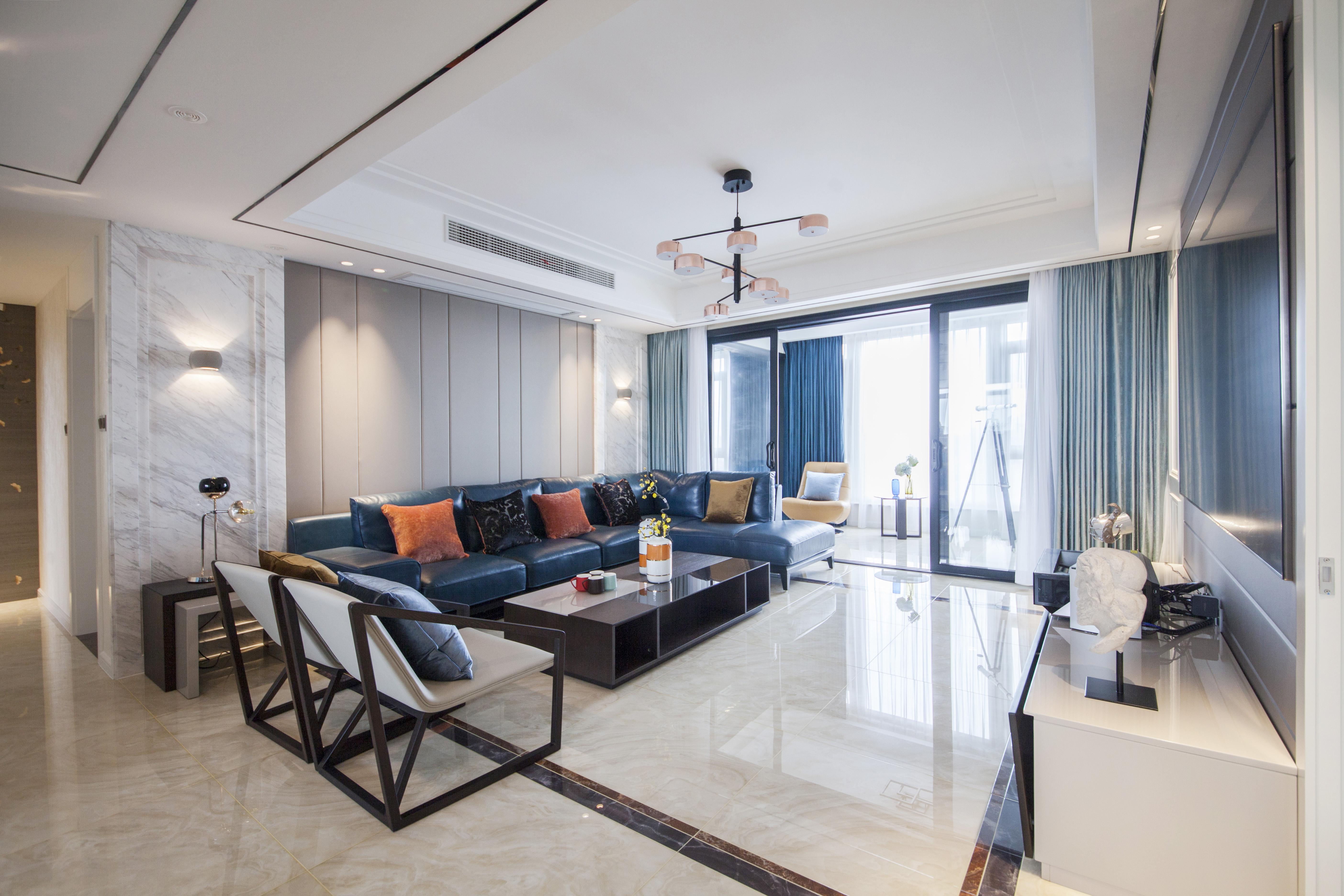 德诚翠湖湾—190平—现代轻奢风格实景案例