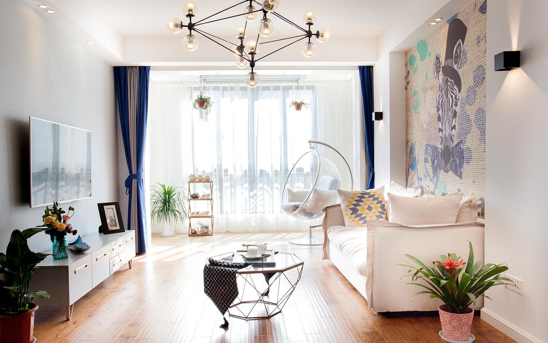 翠湖湾-110㎡-四室两厅-实景装修效果图