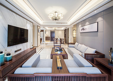保利香槟国际 —145平—  新中式 风格实景案例