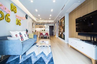 悦海名邸—80平—北欧风格实景案例
