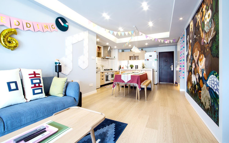 悦海名邸-80平—北欧风格实景装修案例