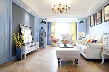 美式风格 苏建名都城 两室两厅 100平米