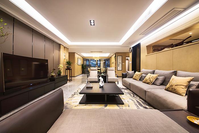 壹城-252平—新中式风格实景装修案例