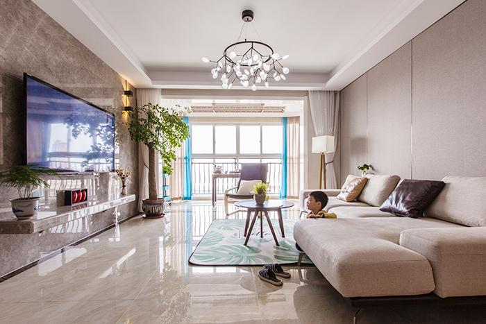 碧桂园-140平—现代简约风格实景装修案例