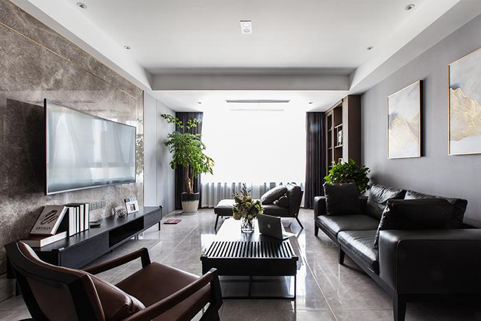 雨润广场-140平—现代简约风格实景装修案例
