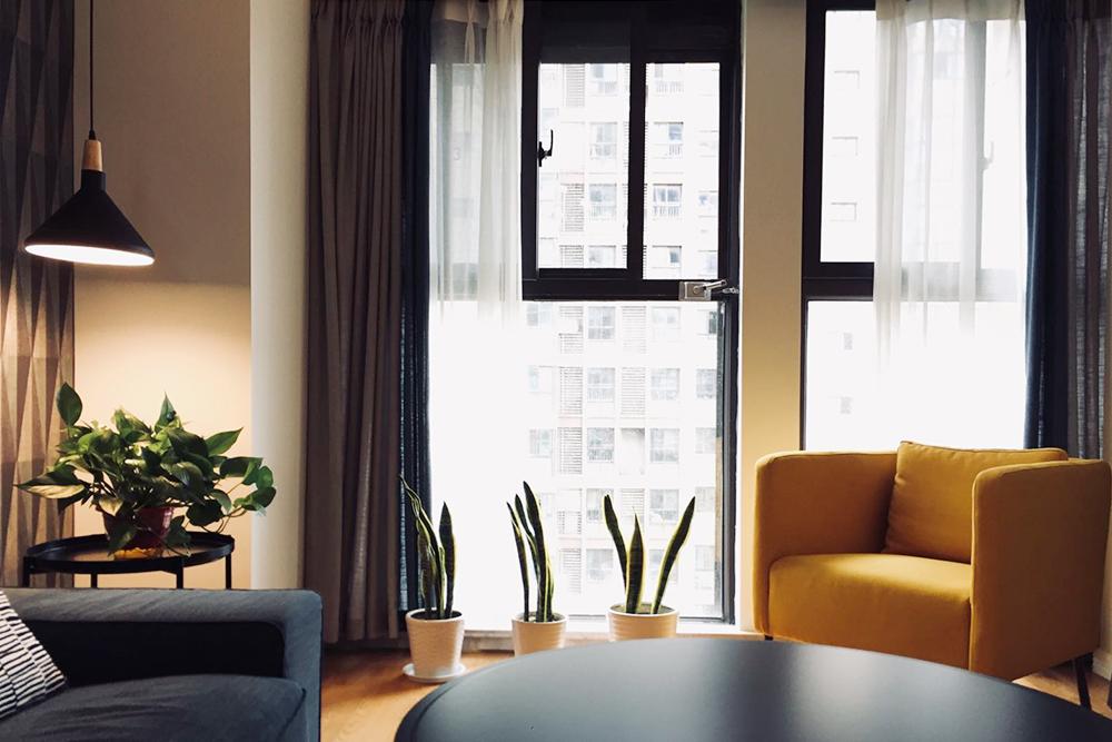 同和嘉苑—100平米两室两厅一卫北欧风格效果图