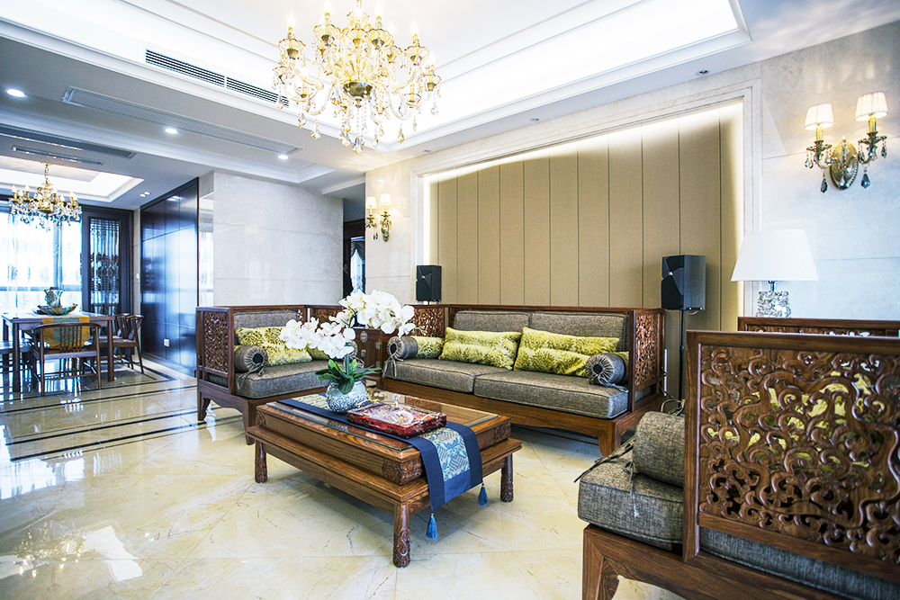 新中式 苏建学府雅居 三室两厅 135平米
