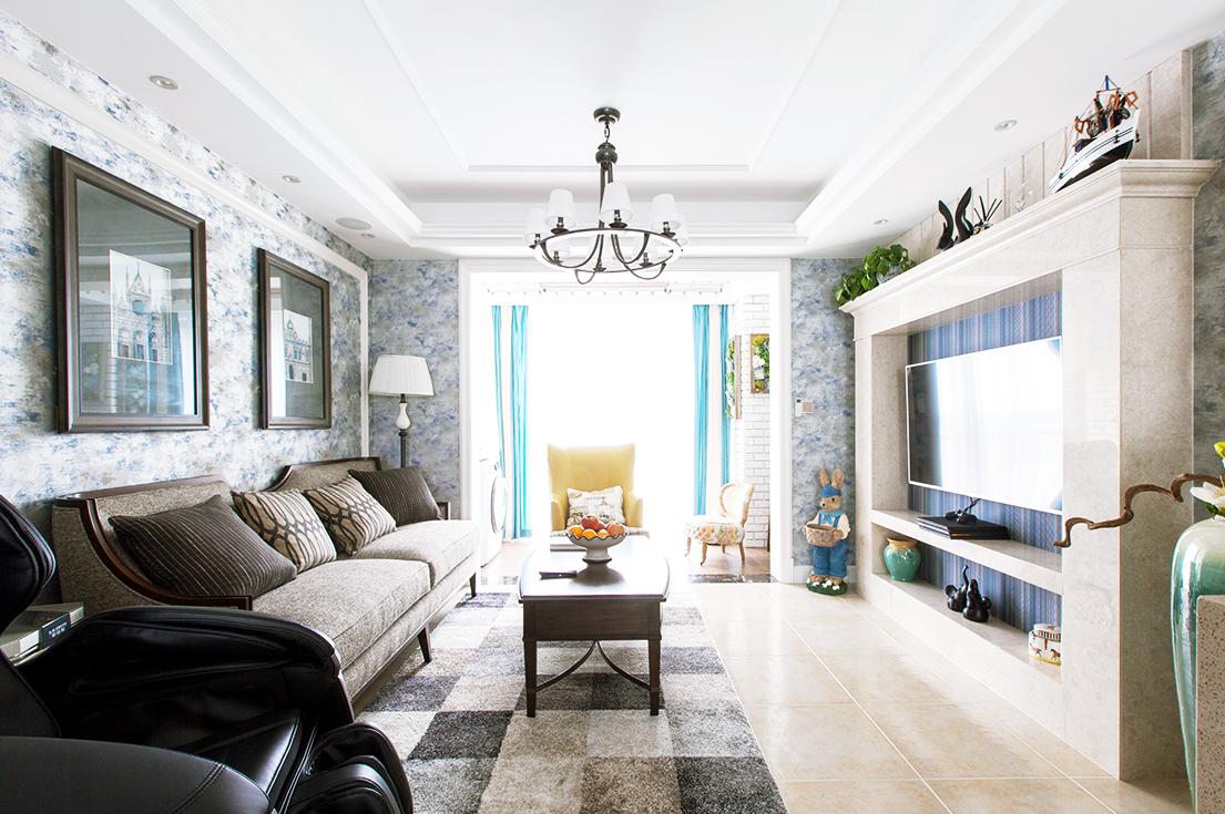 万科濠河传奇—135平—美式风格家庭装修