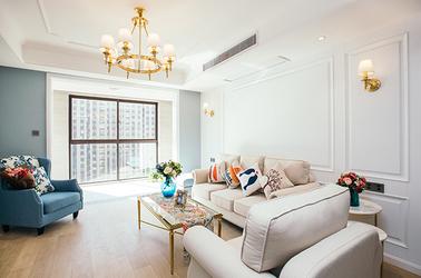美式风格 花半里 三室两厅 130平米
