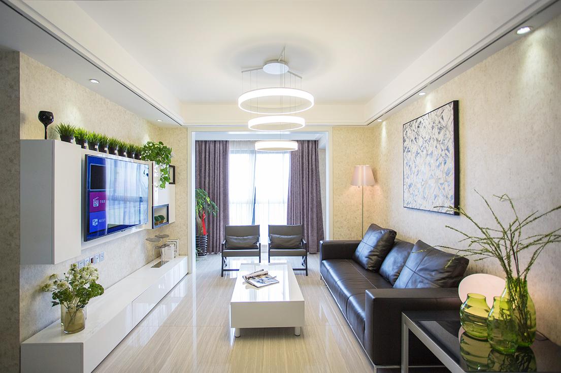 海安天澜湾—110平米—现代简约风格实景图