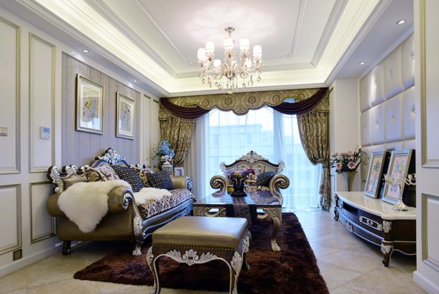 绿城玉兰公寓—176平—新古典风格实景图