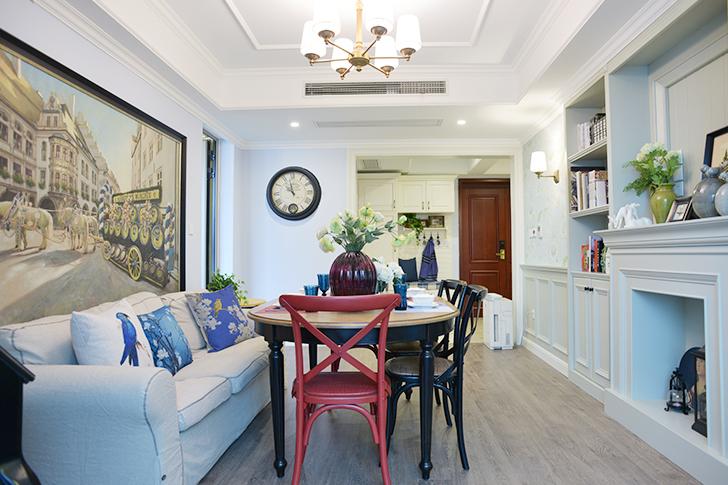 绿城玉兰公寓—91平—美式田园风格实景图