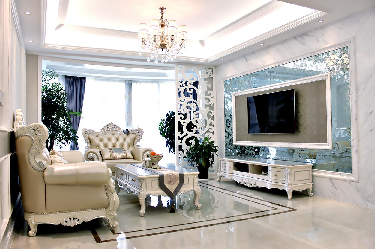 简欧风格 金色成品 三室两厅 140平米