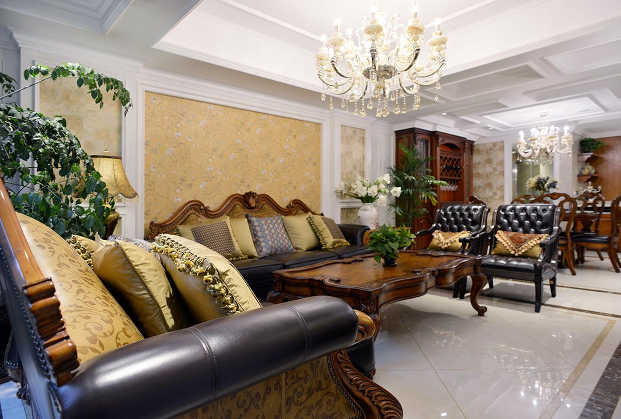 英伦上院叠加别墅—美式风格实景装修案例