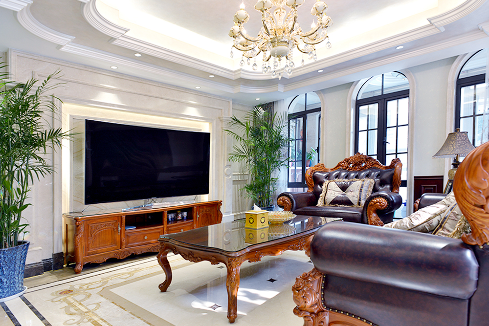 罗浮宫—500平—欧式风格别墅实景图