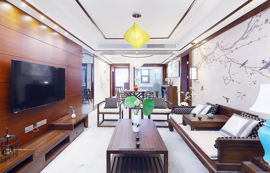 东港国际—140平—新中式风格实景案例
