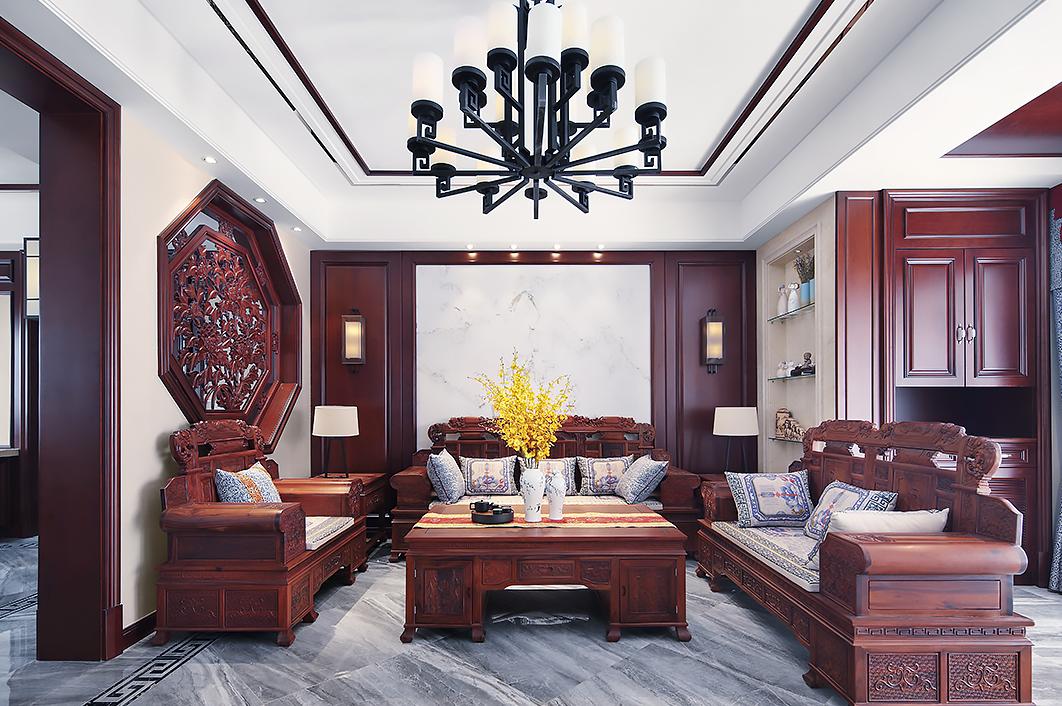 凤凰城—350平—中式风格别墅实景案例