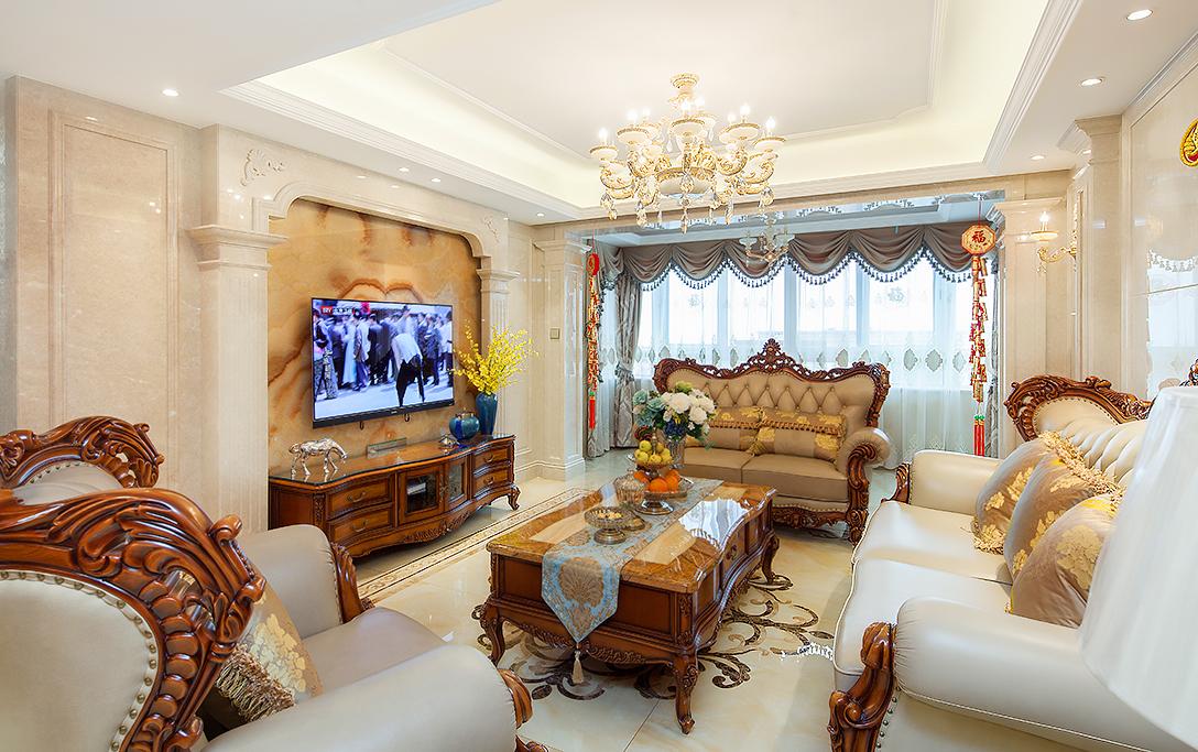 优山美地名邸—290平—欧式风格实景案例