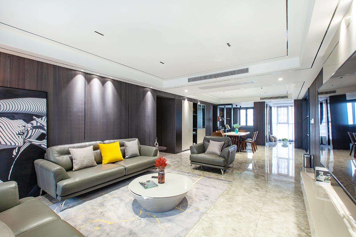 海安书香园—192平—现代简约风格实景案例