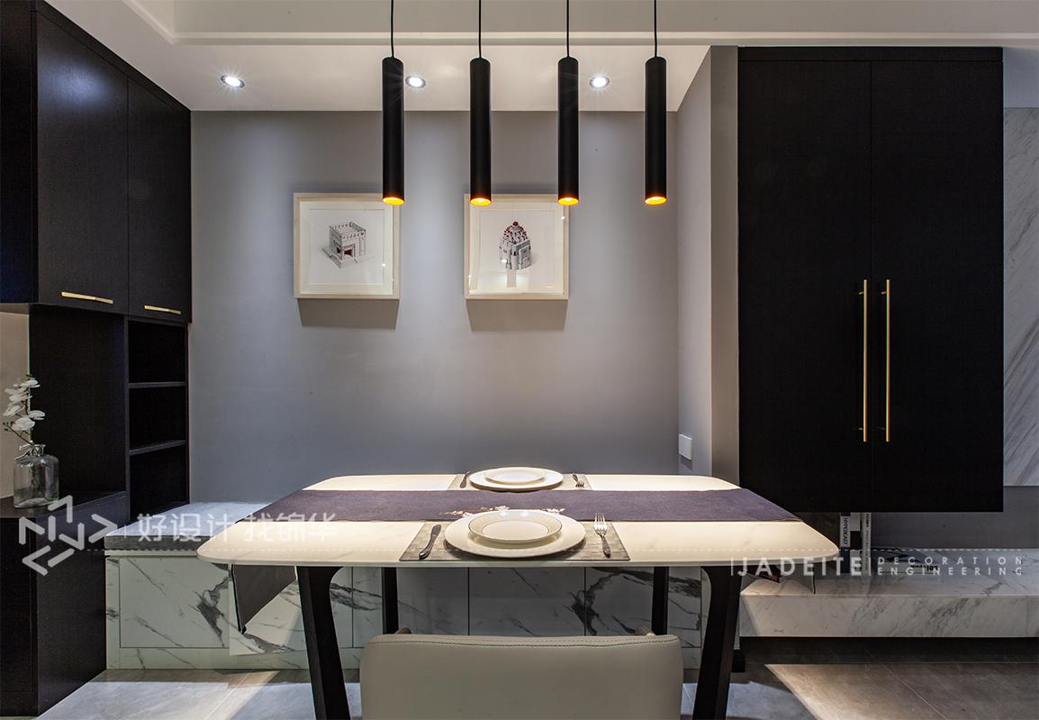 华润悦锦湾—96平—现代风格实景图  装修-三室两厅-现代简约