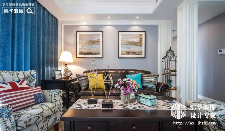 装修实景案例 ▎『美式风格』灵动的蓝调空间