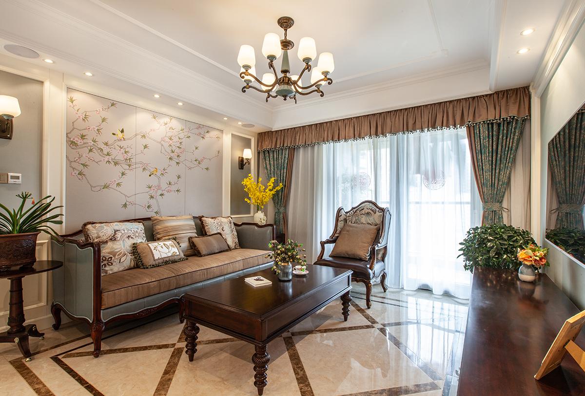 绿城玉兰公寓—130平—美式新古典风格实景图