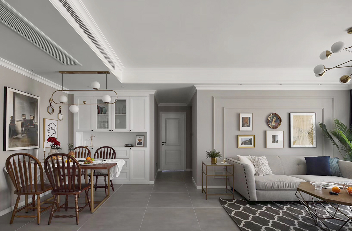 优山美地名邸—130平 —现代美式风格实景案例