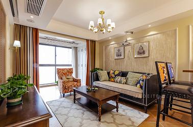 美式风格 香溢紫郡 三室两厅 96平米
