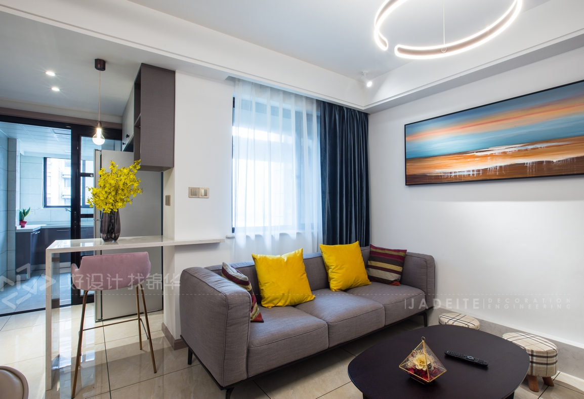 紫东南苑—83.3平—现代简约 风格实景图装修-两室两厅-现代简约