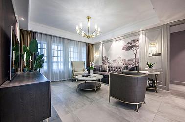 美式风格 苏建学府雅居 三室两厅 130平米