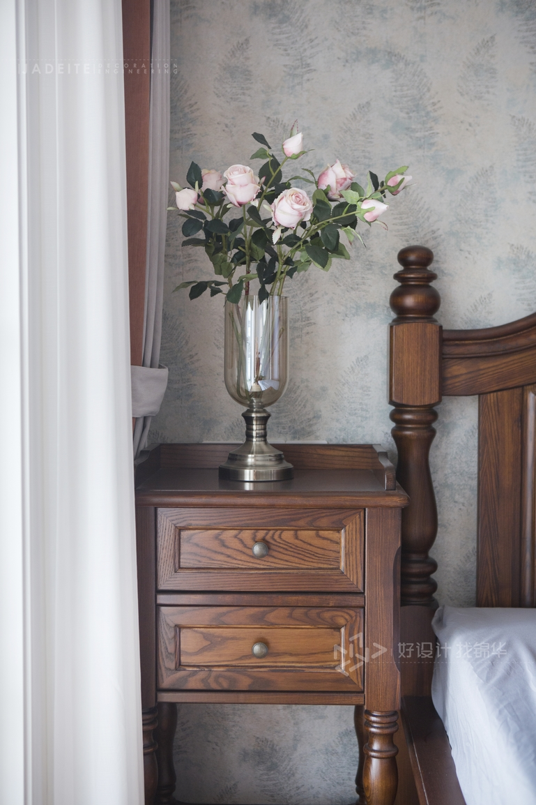 美式风格 华强城 四室两厅 170平米装修-四室两厅-简美