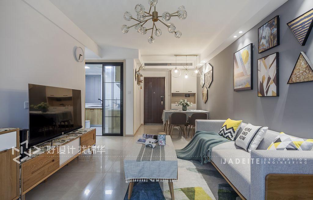 三室两厅装修/美式装修风格/客厅设计效果图