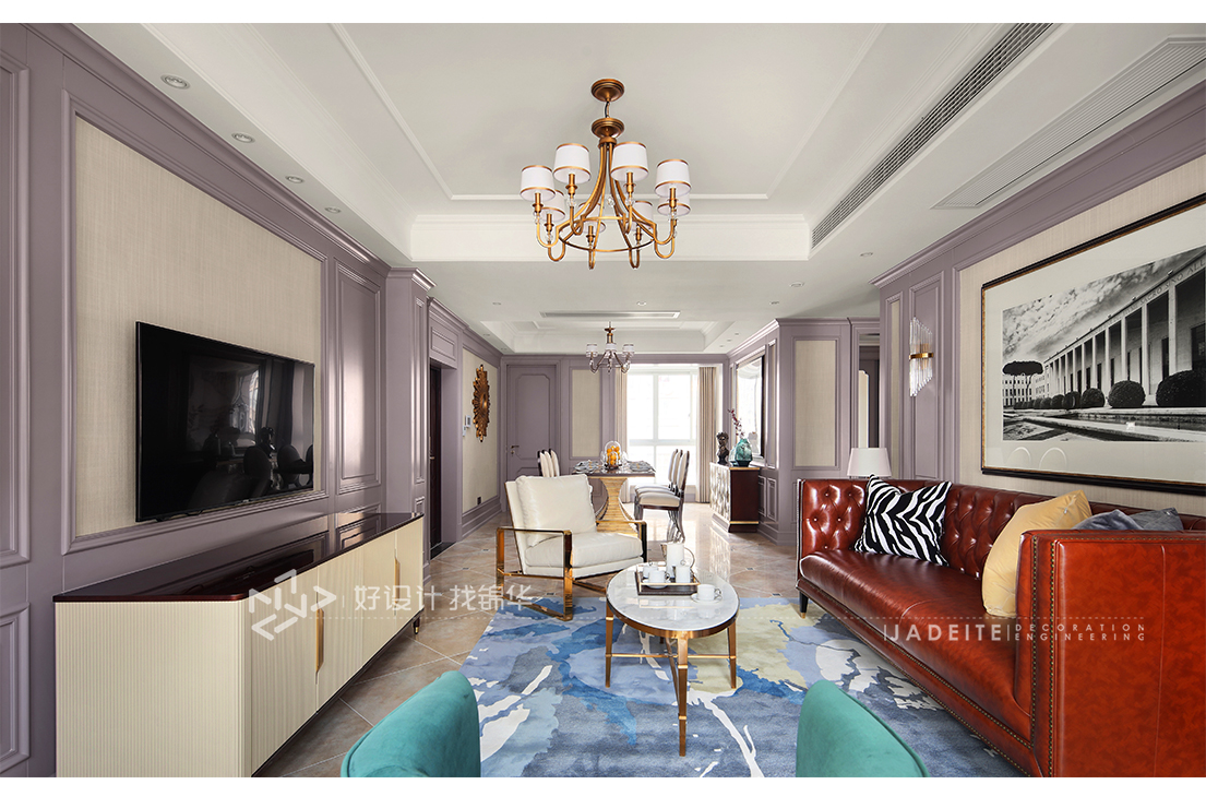 美式风格 海天国际 三室两厅 165平米