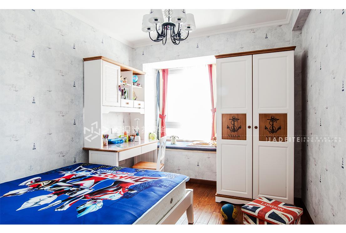 美式风格 星光域 三室两厅 96平米装修-三室两厅-简美