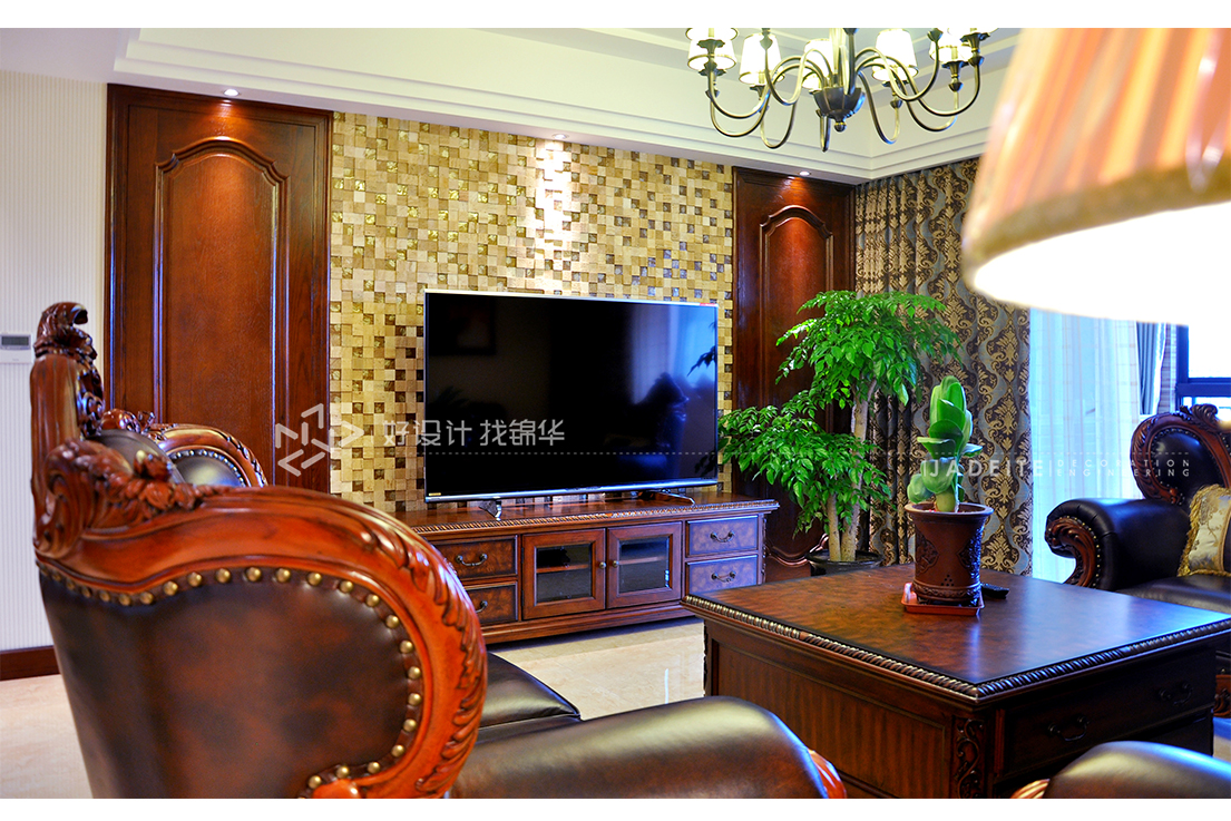 美式田园  中南世纪花城  三室一厅  120平米