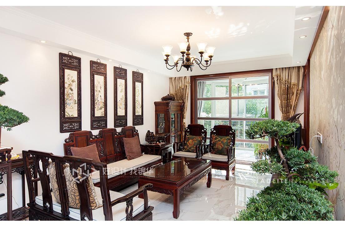 新中式 朝晖花园 三室一厅 110平米