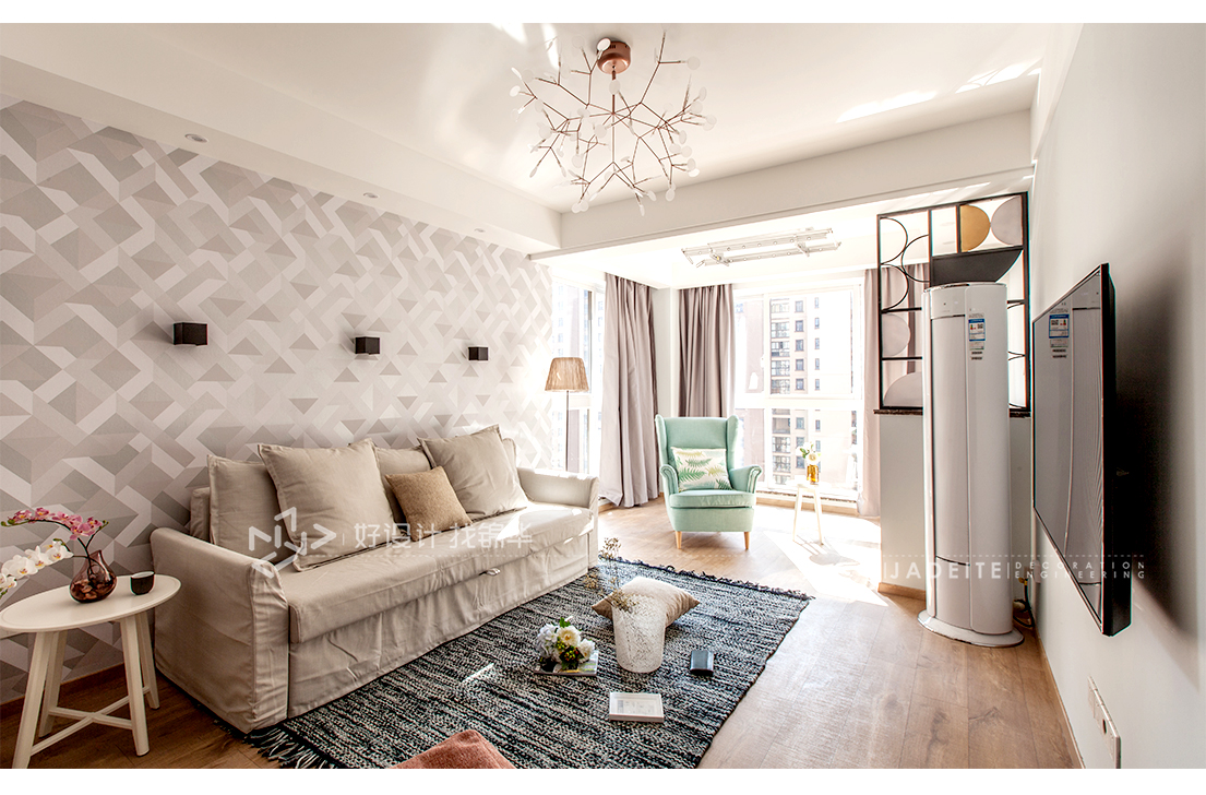 北欧风格 华强城 两室一厅 87平米