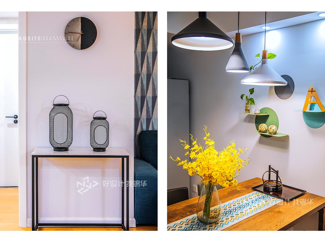 北欧风格 同和嘉苑 两室一厅 100平米装修-两室一厅-北欧