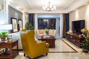 美式田园 悦海名邸 三室两厅 130平米