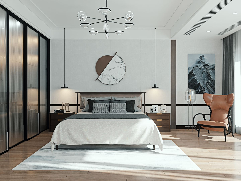 现代轻奢  3室2厅3卫  万科白鹭郡120平米